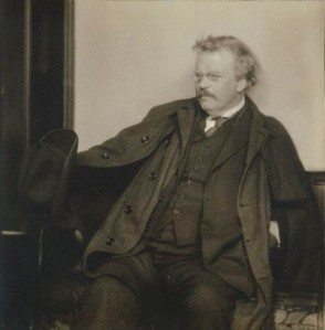 NPG P1318; Gilbert Keith ('G.K.') Chesterton by Herbert Lambert